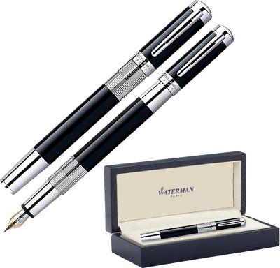 Viết máy Elegance Black cài trắng