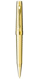 Viết bi Parker Premier 09 Deluxe Chiselled Gold cài vàng