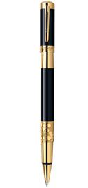Viết lông bi Elegance Black cài vàng