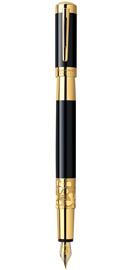 Viết máy Elegance Black cài vàng